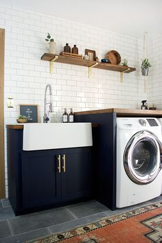 14 Basement Laundry Room ideas for Small Space (Makeovers) Laundry room organization Laundry room decor Small laundry room ideas Farmhouse laundry room Laundry room shelves Laundry closet Kitchen Short People Freezer Shiplap Laundry Room Remodel, Laundry Room Cabinets, Laundry Decor, Basement Laundry, Farmhouse Laundry Room, Laundry Room Organization, Laundry Room Design, Laundry In Bathroom, Navy Cabinets