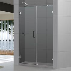 DreamLine SHDR-23 Radiance Frameless Hinged Shower Door w/ 30-in Stationary Panel