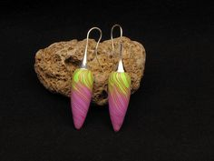 fairy spring earring ohrringe fimo Verwunschne Fee Polymer clay von polymerdesign