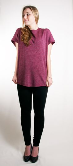 Merino Sloucher Magenta Ziggy - www.janellehinch.co.nz 'The Lucky Ones' Winter/Spring Collection from Janelle Hinch