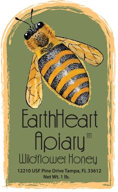 Wildflower Honey from EarthHeart Apiary.  Bees.