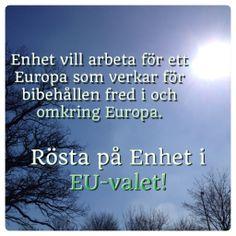 Bibehållen fred i och omkring Europa.