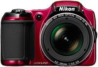"""30x Optical Zoom-NIKKOR Glass Lens/ High-Performance CMOS Image Sensor/ 1080p Full HD Videos With Stereo Sound/ 3"""" LCD Display/ 12 Elements In 9 Groups (2 ED Lens Elements) Lens Construction/ Vibration Reduction/ 65MB Internal Memory/ 3200 Highest ISO Sensitivity/ Red Finish"""
