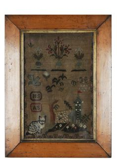 FRAMED NEEDLE WORK SAMPLER BY CHRISTINE NIMMO