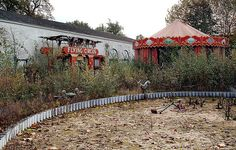 Abandoned amusement park for children in Belgium