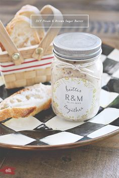 DIY Pecan Butter Wedding Favor Idea