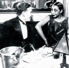 """"""" Georges Simenon and Joséphine Baker, La Coupule, Paris, 1925. """""""