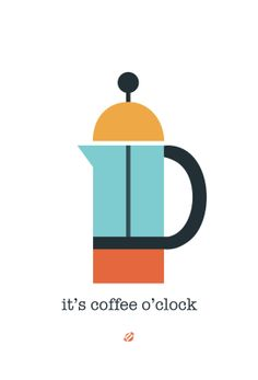 LostBumblebee: It's Coffee O'clock printable