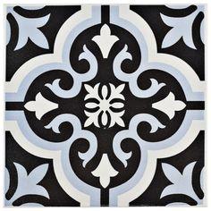 "EliteTile Lima 7.75"" x 7.75"" Ceramic Field Tile in Blue"