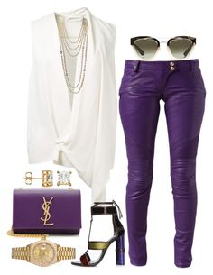 """""""Purple Reign"""" by fashionkill21 ❤ liked on Polyvore featuring Christian Dior, Balmain, Victoria Beckham, Chanel, Yves Saint Laurent and Rolex"""