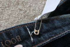 Attach a safety pin.