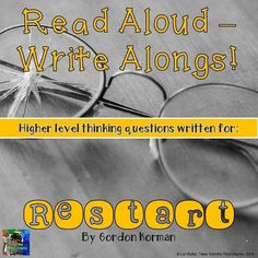 Restart Read Aloud Write Along Book Study Wouldn't it be great to have a do-over when you'd really screwed up? This book is about a bully who gets just that! Use this Read Aloud Write Along to enhance your read aloud time, or in literature circles! 4th Grade Classroom, Classroom Ideas, Third Grade Reading, Balanced Literacy, Authors Purpose, Common Core Reading, Literature Circles, Reading Stories, Reading Response