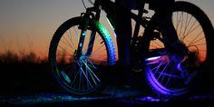 Cool Bike LEDs by bikebrightz: Be seen! #Bike_Lights #Bike_Brightz