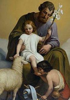 EL NIÑO JESÚS, SAN JOSÉ Y JUAN EL BAUTISTA