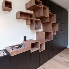 Whether you need something for storage or you want to add a bit to your décor shelves are the perfect solution. - Trending Corner Shelves - Ideas of Corner Shelves Home Interior Design, Interior Architecture, Interior Decorating, Corner Decorating, Diy Furniture, Furniture Design, Furniture Chairs, Furniture Plans, Garden Furniture