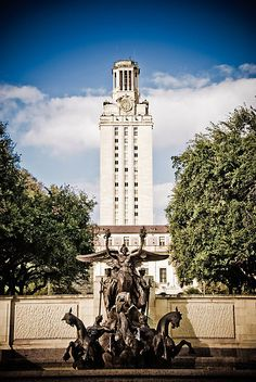 The University of Texas Tower by Charles Dobbs Photography.  University of Texas Austin.