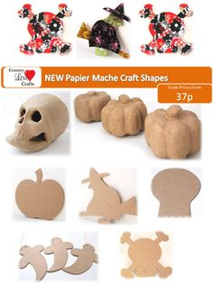 Paint or decorate your own shapes from our range of papier mache craft shapes.