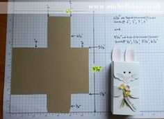 Easter Bunny Box Tutorial with measurements and video - Stampin' Up! Demonstrator Michelle Last Fun Fold Cards, Folded Cards, Easter Crafts, Holiday Crafts, Origami Box Tutorial, Stampin Up Weihnachten, Craft Box, Stampin Up Cards, Easter Bunny