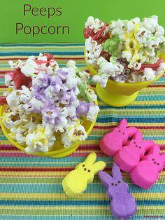 Peeps Popcorn #easter #recipes