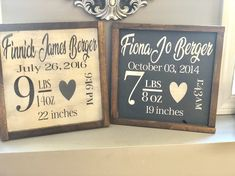Childrens birth stats wood sign by TheBirchTreeDesign on Etsy Diy Wood Signs, Vinyl Signs, Pallet Signs, Baby Decor, Kids Decor, Birth Announcement Sign, Birth Announcements, Baby Frame, Diy Wood Projects