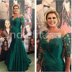 Cheap mother of bride, Buy Quality mother of bride dress directly from China mother of the bride Suppliers: vestido de noiva New Green Plus Size Long Mother of the Bride Dresses Sheer Wedding Party Dress Long Sleeves Evening Gowns Green Evening Dress, Women's Evening Dresses, Sexy Dresses, Prom Dresses, Formal Dresses, Lace Dresses, Dresses 2016, Formal Prom, Bridesmaid Gowns