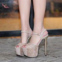 pwne Bottes Hiver Mary Jane PU talon occasionnels argent US8 / EU39 / UK6 / CN39 - Chaussures pwne (*Partner-Link)