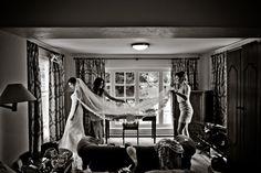 A great shot of the bride's veil - Gougane Barra Wedding #vintage #wedding #romantic