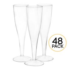 8 Epare 5 Oz Stemless Champagne Flutes Insulated Glass For Brunch