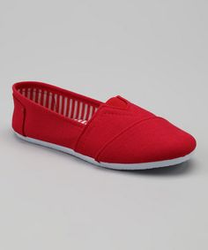 Love this Red Slip-On Shoe by Spoiled Angel Kids on #zulily! #zulilyfinds