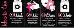 MakeUp Eraser is as easy to use as 1-2-3 (4) !
