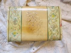 Vintage Handkerchief Box Celluloid Silk by LeapingFrogDesigns, $9.50