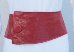 Red Leather Sparkle Belt with Buttons - Lamb Skin by ElegantElementsOnlin on Etsy https://www.etsy.com/listing/69048379/red-leather-sparkle-belt-with-buttons
