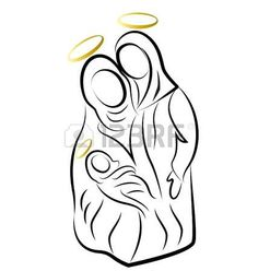 Illustration of Nativity scene silhouette vector vector art, clipart and stock vectors. Christmas Nativity, Christmas Art, Christmas Holidays, Christmas Decorations, Christmas Ornaments, Xmas, Nativity Silhouette, Silhouette Vector, Jesus Mary And Joseph
