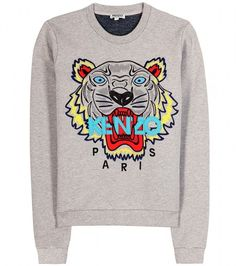 9572a736 Logo Print Sweater - Lyst Kenzo Tigre, Sweat Kenzo, Kenzo Sweater,  Embroidered Sweatshirts