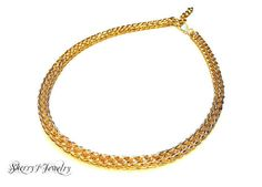 """BEAUtiful #handmade items at your fingertips! Check it out!  Fall 2015 Collection This choker is made of 14kt gold fill #wire woven by hand and finished with a 1 1/2"""" length extension and """"S"""" hook clasp. 13"""" in length and the chain is... #handmadehour #jewelrylovers #style #fashion #handmadewithlove #gifts #srajd"""