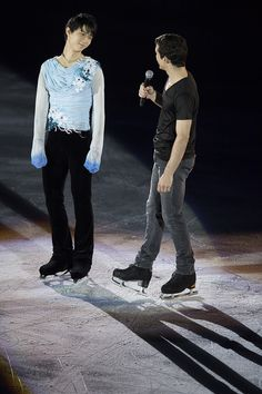 with Javi at The ISU Grand Prix of Figure Skating Final 2014 – Day 4. Gala