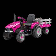Power Wheels type Case IH Magnum tractor hot pink with wagon Baby Doll Nursery, Baby Dolls, Toys For Girls, Kids Toys, Pink Tractor, Toy Catalogs, Kid Essentials, Go Pink, Power Wheels