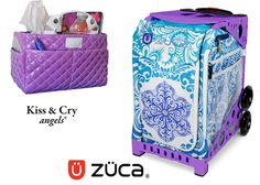 Zuca Sport Bag - Ice Garden (Limited Edition) & Kiss and Cry Rink Tote (Bubbly Purple) #figureskating #figureskatingstore #figureskates #skating #skater #figureskater #iceskating #iceskater #icedance #ice #icedance #iceskater #iceskate #icedancing #figureskate #iceskates #sale #discount #cybermonday #cybermonday2016 #figureskatingoutfits #figureskates #zuca #zucabags #zucasale #bags #skates