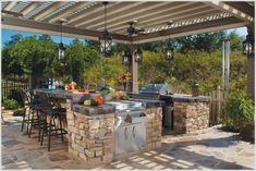Pergola Or Covered Patio Rustic Outdoor Kitchens Outdoor . Lattice Patio Covers Las Vegas And Surrounding Areas . Design Ideas For Your Outdoor Living Space Eagleson . Outdoor Kitchen Patio, Outdoor Kitchen Countertops, Outdoor Kitchen Design, Outdoor Rooms, Backyard Patio, Outdoor Living, Outdoor Decor, Outdoor Kitchens, Kitchen Island