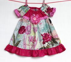 French Journal  Dress by WildOliveKids on Etsy, $35.00