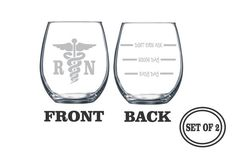 Hey, I found this really awesome Etsy listing at https://www.etsy.com/listing/251935982/2-registered-nurse-stemless-etched-wine