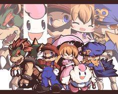 The cast of Super Mario RPG. DANG IT SQUARE, JUST GIVE US GENO.