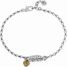 94b70703b Art & Soul Courage Anklet. Silver AnkletsAnklet BraceletPersonalized  JewelryTypes ...