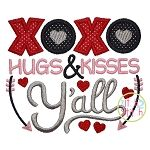 XOXO Hugs & Kisses Y'all Applique