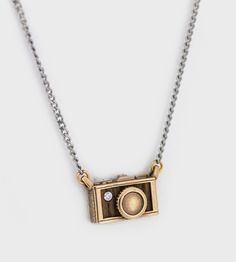 Wood & Bronze Camera Necklace (for photography buffs like me!)