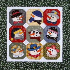 Quilt - I don't really do snowmen but I know lots of people who do. These are some of the cutest I've seen!