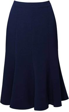 Rumour London - Lucy Wool Midi Skirt In Navy Blouse And Skirt, Skirt Suit, Midi Skirt, Modest Fashion, Fashion Outfits, Mid Length Skirts, Work Looks, Look Fashion, Fashion Design
