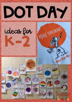 Do you celebrate International Dot Day in your elementary library or classroom? Check out these Dot Day activities from The Trapped Librarian! Library Lesson Plans, Library Skills, Library Ideas, Library Activities, Art Activities, Indoor Activities, Summer Activities, Library Science, Interactive Activities