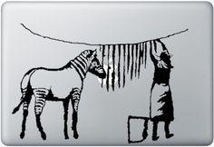 Macbook Funny Humor Decal Sticker Zebra