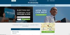 Obama Election Day homepage